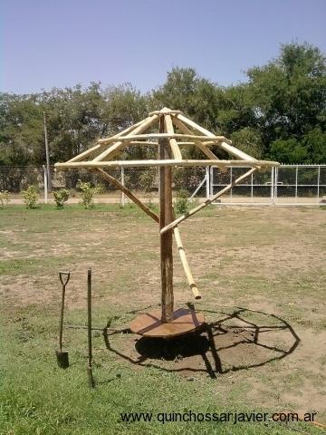 Sombrillas de madera para jardin sombrilla centrada for Sombrillas de jardin