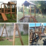juegos de plaza en madera infantil