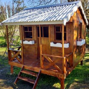 Casitas de madera para niños casita de madera infantil modelo americana