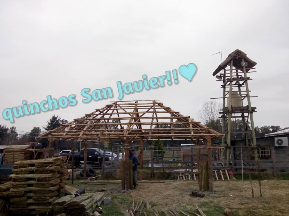 Estructura construcción de quinchos a 4 aguas
